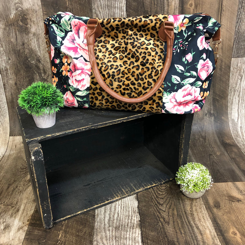 98156fefb942 FLORAL/Leopard Weekender Bag – Triple Blessed Boutique