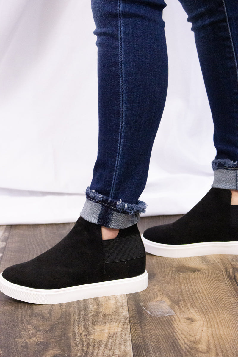 Black Diana Wedge Sneaker