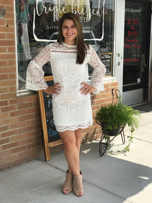 Crochet Bell Sleeve Dress