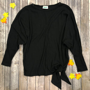 Side Tie Dolman Sleeve Top