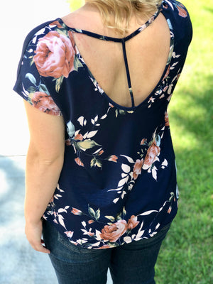Floral Back Detail Top