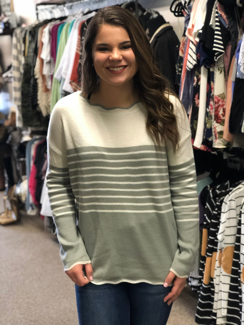 Grace Wave Striped Sweater