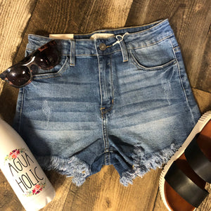 High Rise Cut Off Shorts