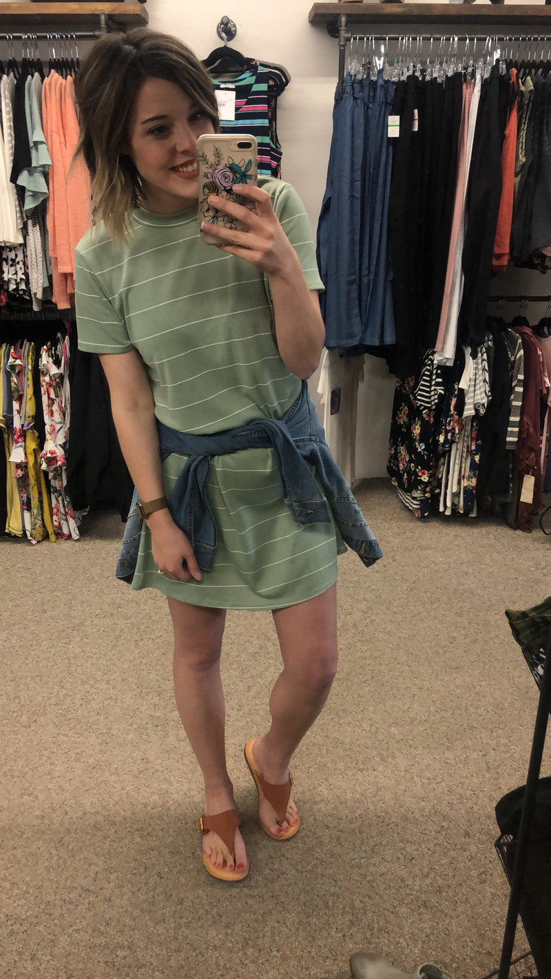 Relaxed fit Striped T-Shirt Dress