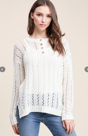 Open Weaved Sweater