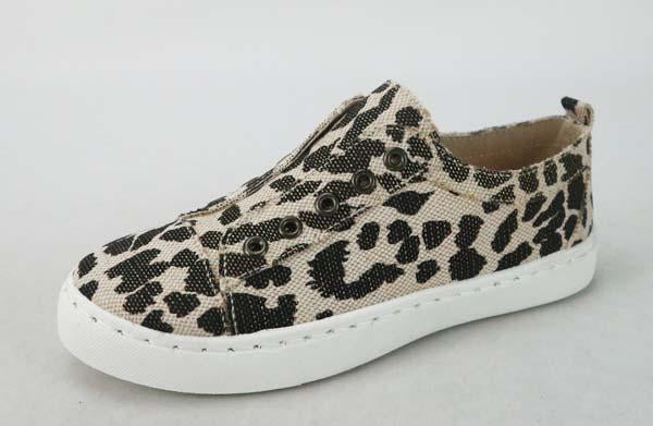 Slip-on Canvas Sneakers Leopard