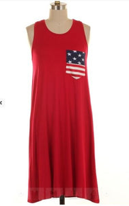Flag Pocket Dress-8505