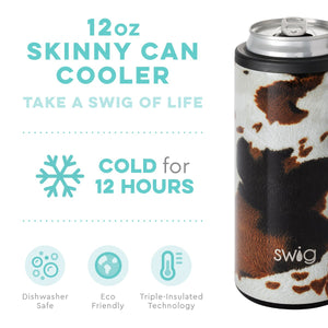 Dragon Glass Blk Swig Slim Can Insulated Koozie