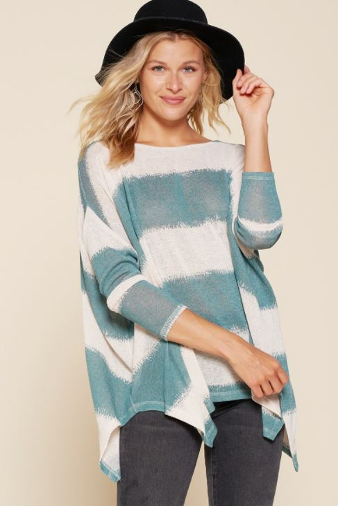 Striped Oversize Poncho