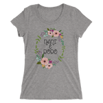 Ladies' short sleeve t-shirt with flower ring
