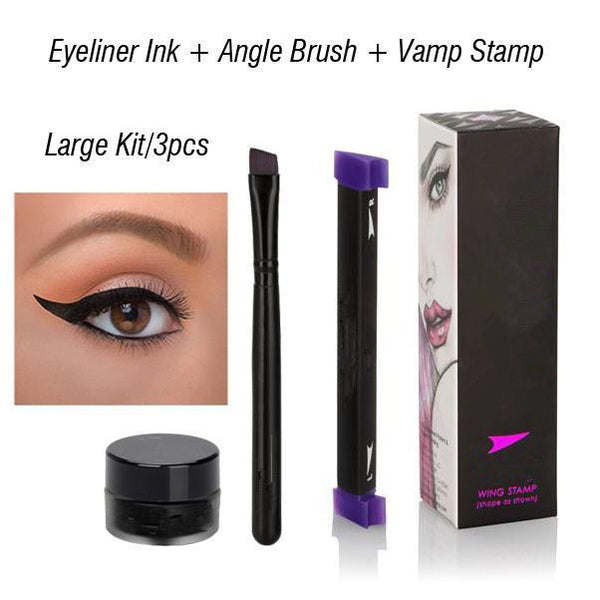 LD Pretty 3PCS SET Large Perfect Winged Eyeliner Vamp Stamp