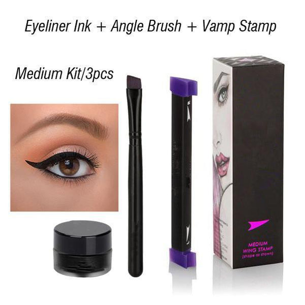 LD Pretty 3PCS SET MEDIUM Perfect Winged Eyeliner Vamp Stamp