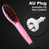 LD Pretty Brush Pink AU Plug Electric hair straightener