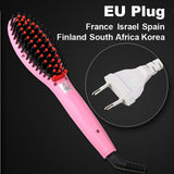 LD Pretty Brush Pink EU Plug Electric hair straightener