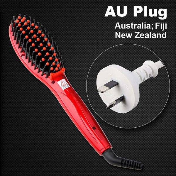 LD Pretty Brush red AU Plug Electric hair straightener