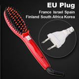 LD Pretty Brush red EU Plug Electric hair straightener