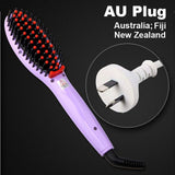LD Pretty Brush Violet AU Plug Electric hair straightener