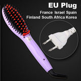 LD Pretty Brush Violet EU Plug Electric hair straightener