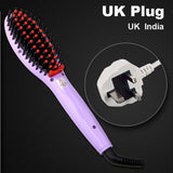 LD Pretty Brush Violet UK Plug Electric hair straightener