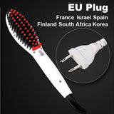 LD Pretty Brush white EU Plug Electric hair straightener