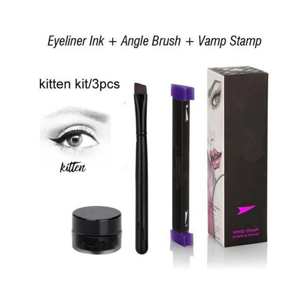 LD Pretty Kitten3PCS kit Perfect Winged Eyeliner Vamp Stamp