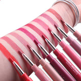 LD Pretty lips Double Ended Nude Red Matte Velvet Lipstick Pencil
