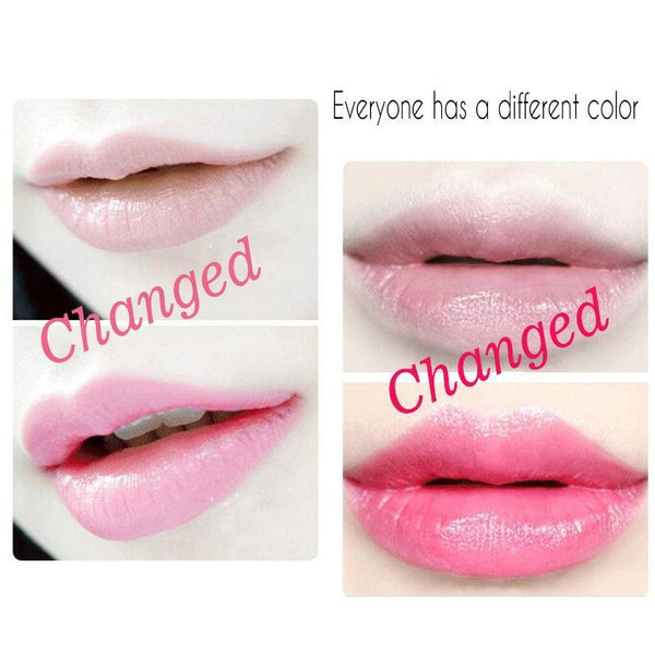 LD Pretty New Long Lasting Moisturizer Transparents Flower Lipstick Cosmetics Waterproof Temperature Change Color Jelly Lipstick Balm