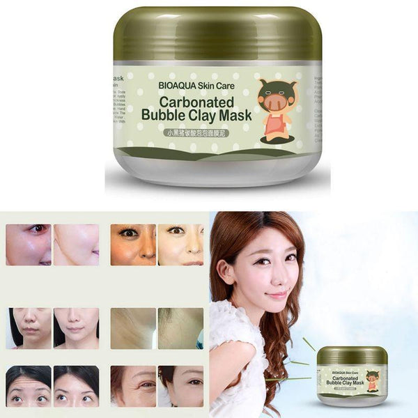 LD Pretty skin care 100g Deep Pore Cleansing Clay Mask Carbonated Bubble Anti-Acne Moisturizing Face Mask