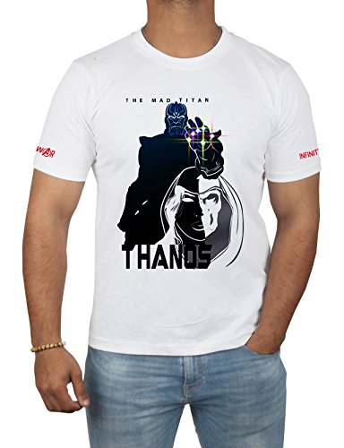 Miracle(Tm) The Mad Titan Thanos Character T Shirt - Adult Mens Printed Shirt (The Mad Titan-L)