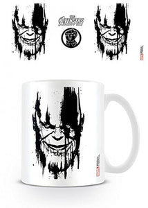 Set: The Avengers, Infinity War, Thanos Stencil Drip Photo Coffee Mug (4x3 inches) And 1x 1art1 Surprise Sticker
