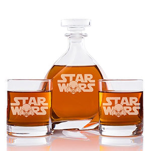 Abby Smith, Star Wars Engraved Madison Glass Decanter and Rocks Glasses (Set of 3)