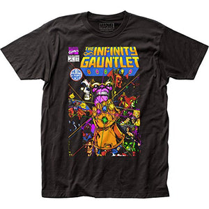 Marvel Comics Thanos The Infinity Gauntlet Adult Fitted Jersey T-Shirt Tee