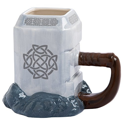 Vandor 26401 Marvel Thor Mjolnir Ceramic Sculpted Mug
