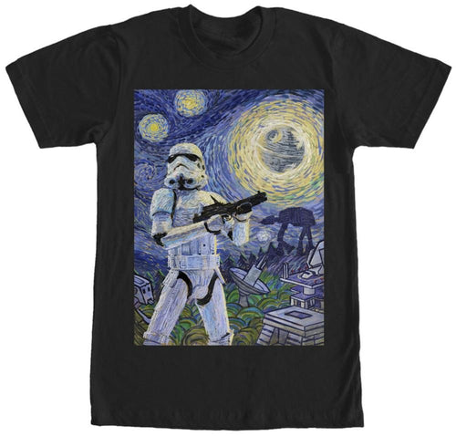 Star Wars Stormtrooper Stormy Starry Night Adult T-Shirt