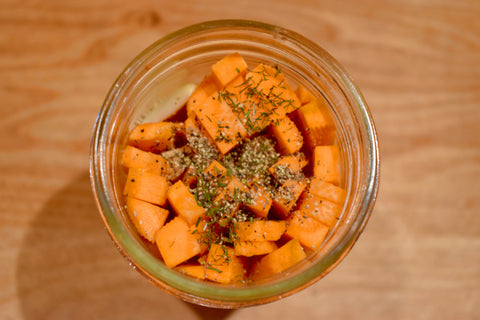 Dill and Carrots in a jar