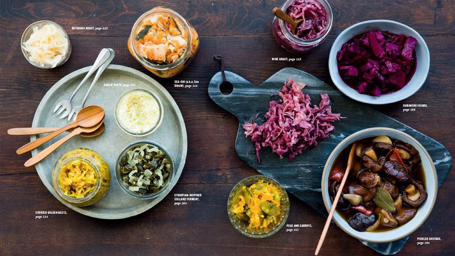 Preview du livre Fermented Vegetables; photo