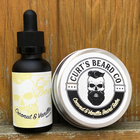 Coconut & Vanilla Beard Balm and Oil Set