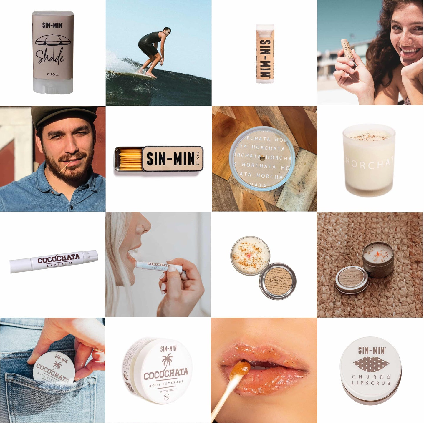 SIN-MIN Product Lifestyle Image Collage