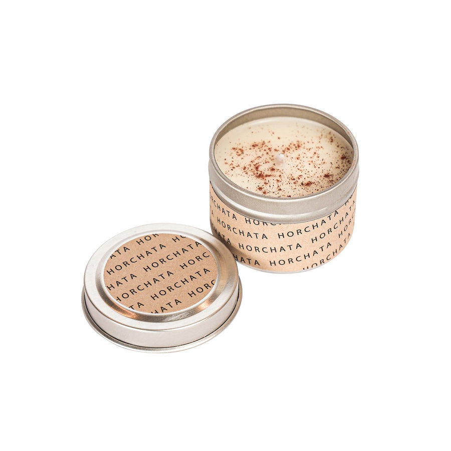 SIN-MIN Horchata Candle Mini Travel Size 2 Oz Tin
