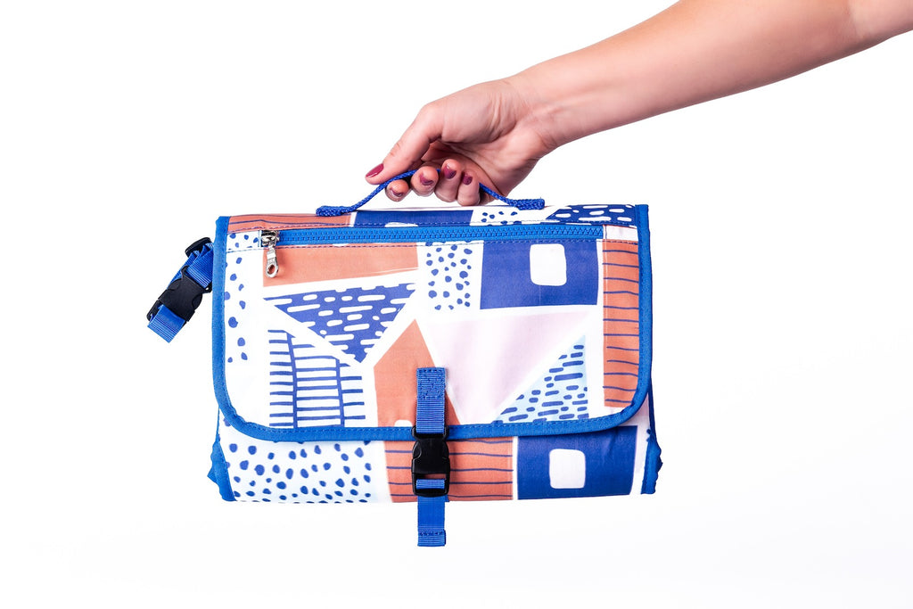 titibela print clutch diaper bag hand