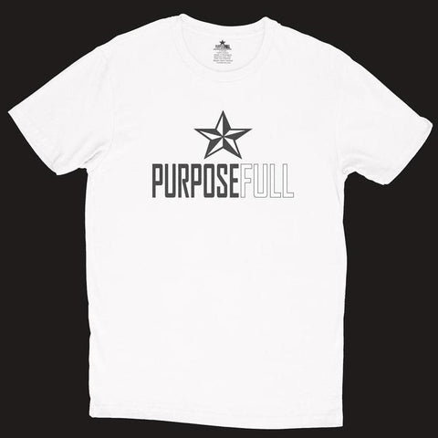 PURPOSEFULL UNISEX - T-SHIRT- WHITE