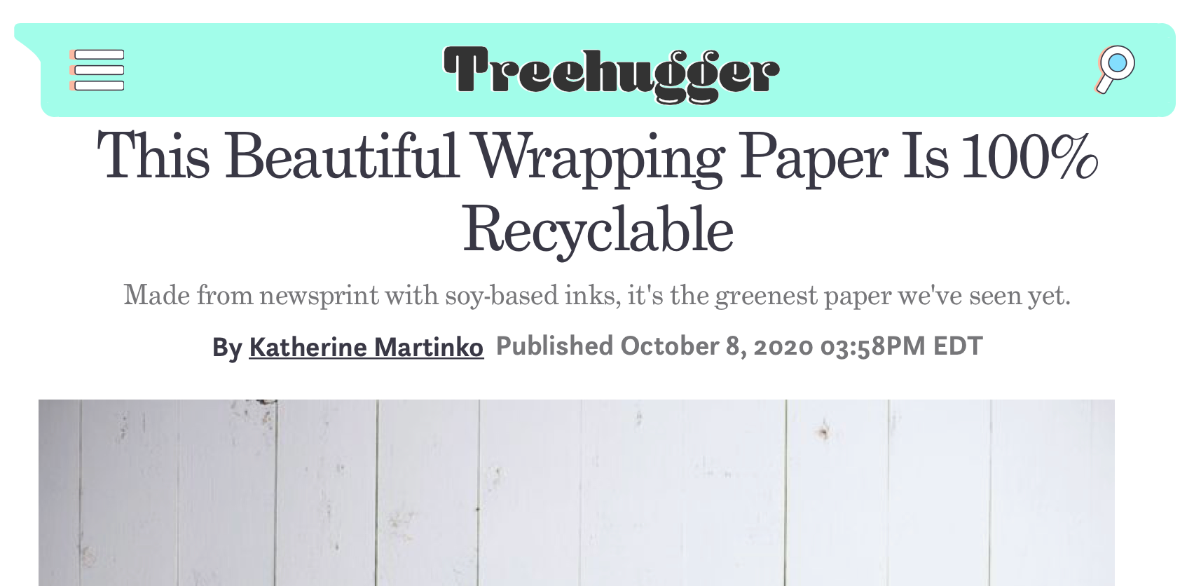 Wrappily on Trehugger.com