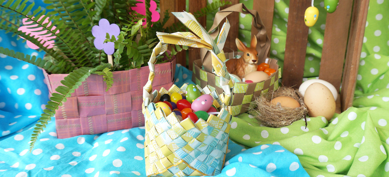 DIY Upcycled Easter Baskets