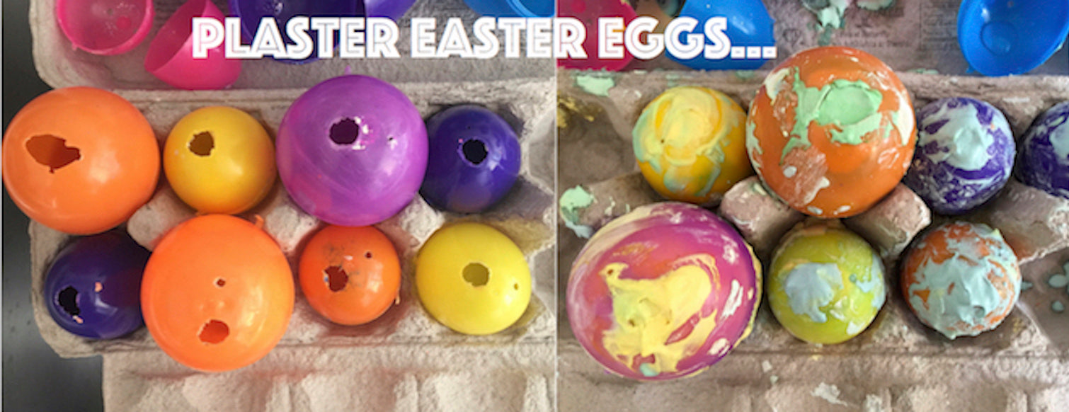 Make These Gorgeous And Reusable Plaster Easter Eggs