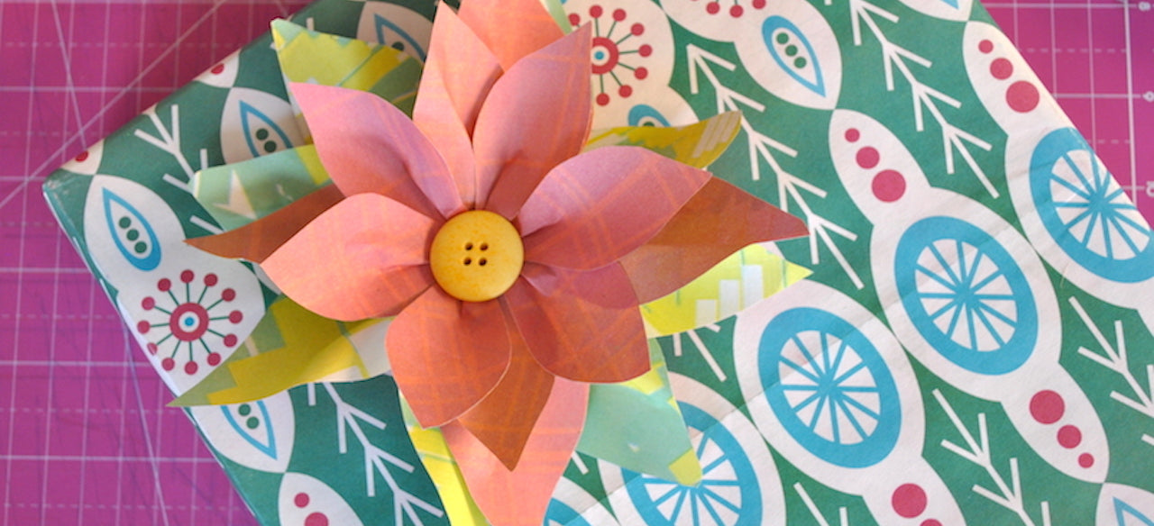 How-To: Paper Poinsettia Gift Topper Kit