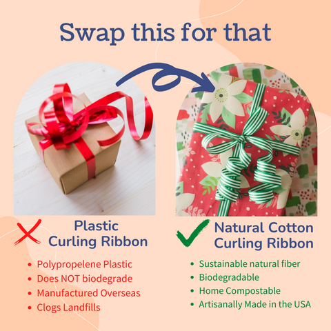 Swap Curling Ribbon made with plastics for a Cotton Curling Ribbon