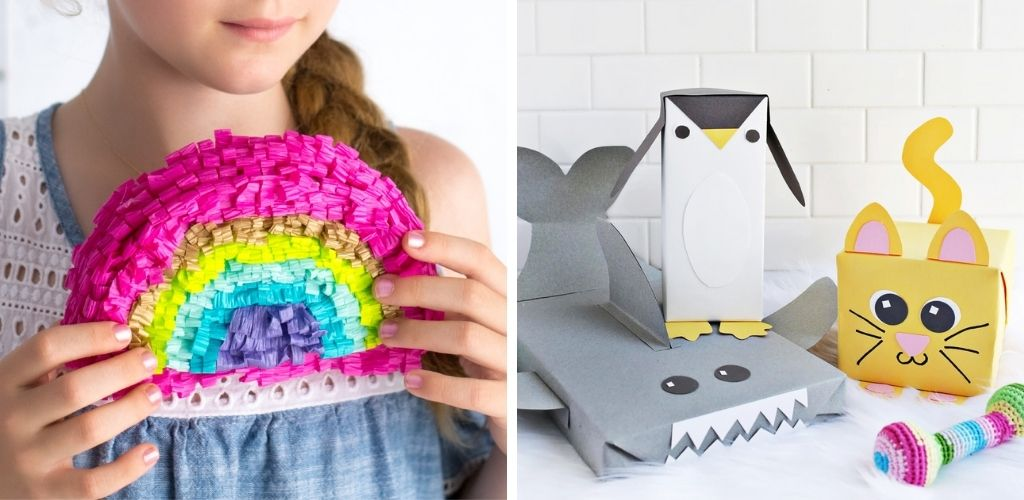 Kids Gift Wrapping Ideas - pinata and animal disguises
