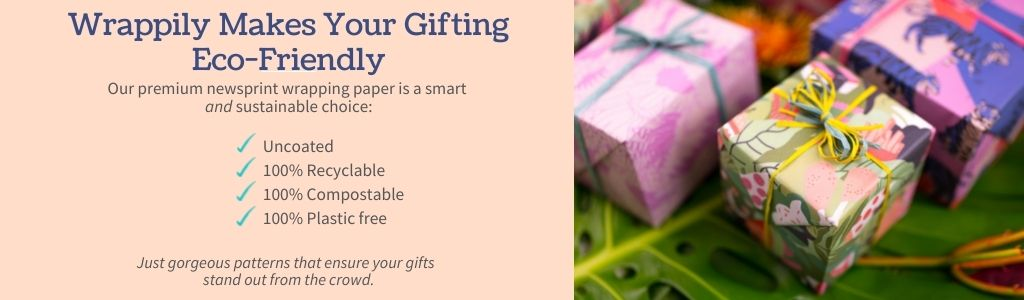 Wrappily Eco-Friendly Gift Wrap is Recyclable and Compostable