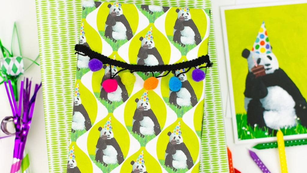 Kids Gift Wrapping Ideas - Tassels & Garland