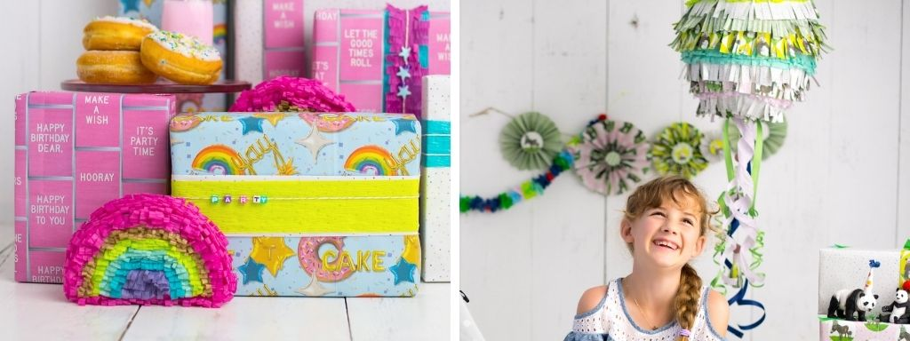 DIY Pinatas in two different styles